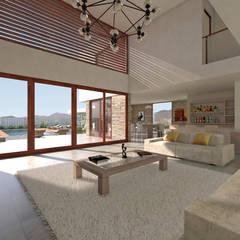 Vivienda La Chimba: Livings de estilo  por Uno Arquitectura