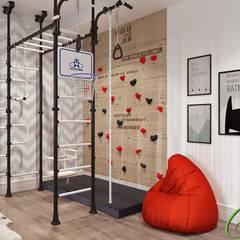 Игровая комната: Спальни для мальчиков в . Автор – Компания архитекторов Латышевых 'Мечты сбываются'