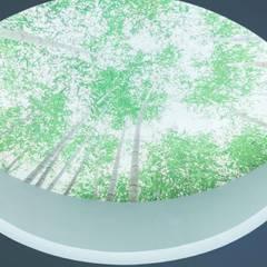 Particolare dell'oblò verde illuminato: Studio in stile  di VITAE DESIGN STUDIO
