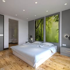 Kolon Mimarlık - İçmimarlık – Kemerburgaz LIVERA Suites - Örnek Daire Tasarımı:  tarz Yatak Odası