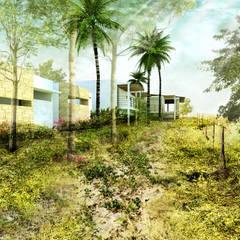 CASA GUASACATE: Bungalows de estilo  por Fstudio Arquitectura