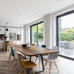 Whole House Renovation, Cheam, Surrey :  Dining room by Model Projects Ltd