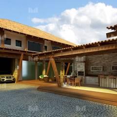 Garajes de estilo  por Marcelo Brasil Arquitetura