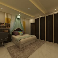 Bedroom: country Bedroom by Regalias India Interiors & Infrastructure