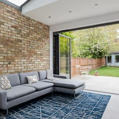 High Barnet Terrace House Transformation:  Living room by Model Projects Ltd