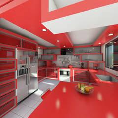 Remodelacion cocina.: Muebles de cocinas de estilo  por Arq. Yofrank Diaz, Moderno Madera Acabado en madera