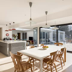 Shaun and Jenny, Bookham Surrey House Transformation:  Dining room by Model Projects Ltd