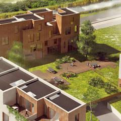 CPO lofthuis Utrecht:  Eengezinswoning door Bergblick interieurarchitectuur