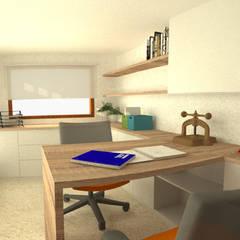 Casa Norita : Estudios y oficinas de estilo  por CRea - Arquitectura + Diseño