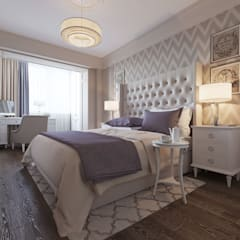 ЖК Виктория: Спальни в . Автор – Y.F.architects