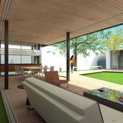 Área de lazer: Estábulos e galpões de jardins  por ODVO Arquitetura e Urbanismo