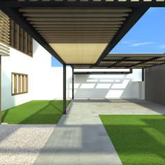 Cobertura da garagem: Garagens duplas  por ODVO Arquitetura e Urbanismo