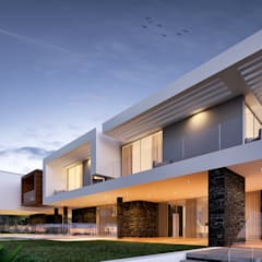 Villas by Traçado Regulador. Lda, Modern پتھر