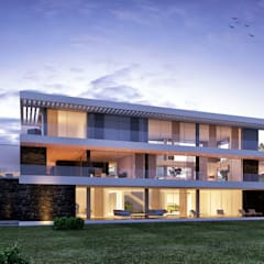 Villas by Traçado Regulador. Lda, Modern Stone