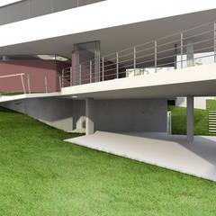 Garagem: Garagens duplas  por ODVO Arquitetura e Urbanismo