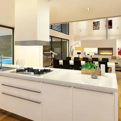 MORADIA PF1: Cozinhas  por Traçado Regulador. Lda