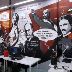 Роспись стены в офисе рекламного агентства Nectarin: Стены в . Автор – Allover Graphics
