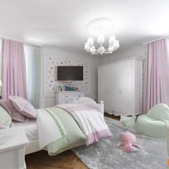 Дизайн интерьера детской для маленькой принцессы: Спальни для девочек в . Автор – Art-i-Chok