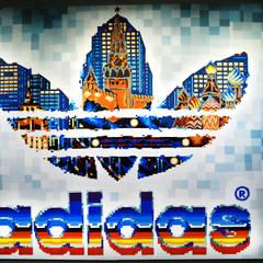 Оформление магазина Adidas Originals: Стены в . Автор – Allover Graphics
