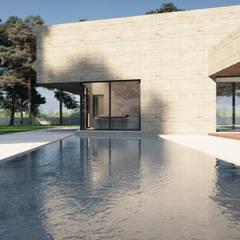 Projekty,  Basen do ogrodu zaprojektowane przez ASVS Arquitectos Associados