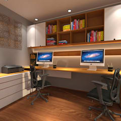 office decoration: industrial Study/office by Decoratespace