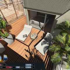 Terraza : Jardines de estilo  por Aida Tropeano & Asoc.