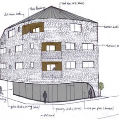 Casas multifamiliares de estilo  por AAG architecten