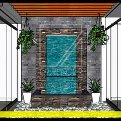 Vista Detalle: Jardines de piedra de estilo  por F9.studio Arquitectos