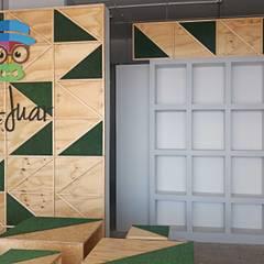 Vista frontal: Oficinas y tiendas de estilo  por Estudio Chipotle