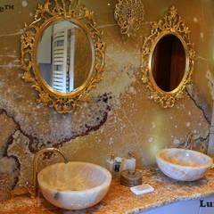 Okrągła umywalka z onyksu na blat - umywalki z onyksu: styl , w kategorii Łazienka zaprojektowany przez Lux4home™
