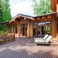 منزل خشبي تنفيذ РусБрус, إسكندينافي خشب Wood effect