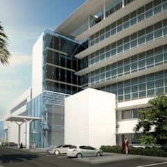 South Elevation View:  Hospitals by SPACES Architects Planners Engineers