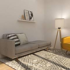Obra Libertador - Diseño integral Consultorio Psicologico: Estudios y oficinas de estilo escandinavo por Bhavana
