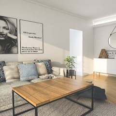Obra Blanco Encalada - Diseño Living : Livings de estilo  por Bhavana