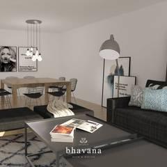 Obra El Sausalito - Diseño Integral Casa Country: Livings de estilo  por Bhavana