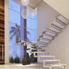 Escaleras de estilo  por Camila Pimenta | Arquitetura + Interiores, Minimalista