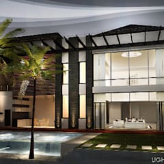 J House, Modern Style. Pematangsiantar City:  Rumah by Lighthouse Architect Indonesia