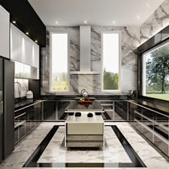 J House, Modern Style. Pematangsiantar City:  Dapur by Lighthouse Architect Indonesia
