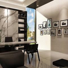 J House, Modern Style. Pematangsiantar City: Ruang Kerja oleh Lighthouse Architect Indonesia,