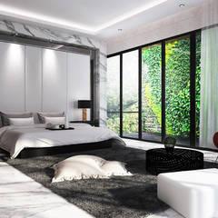 J House, Modern Style. Pematangsiantar City Kamar Tidur Modern Oleh Lighthouse Architect Indonesia Modern