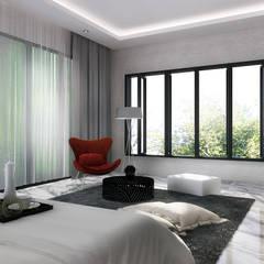 J House, Modern Style. Pematangsiantar City: Kamar Tidur oleh Lighthouse Architect Indonesia, Modern