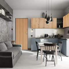 Built-in kitchens by Studio Gentile, Industrial Wood Wood effect