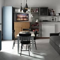 casa F: Cucina attrezzata in stile  di Studio Gentile
