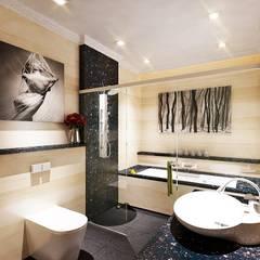 Master Bathroom:  Kamar Mandi by Lighthouse Architect Indonesia