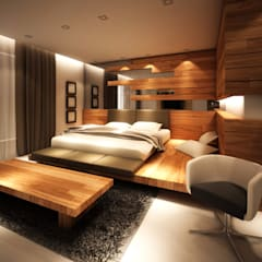 Master Room:  Kamar Tidur by Lighthouse Architect Indonesia