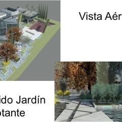 JARDINE FLOTANTE Y EXTERIORES: Jardines de estilo  por ESTUDIO KULUMAK
