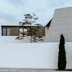 Fachada lateral: Casas unifamiliares de estilo  por Mexikan Curious