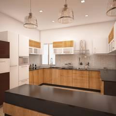 Rajlaxmi :  Kitchen by Regalias India Interiors & Infrastructure