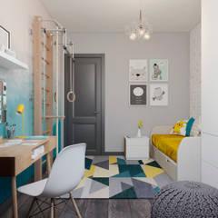 Квартира 55 кв.м. в старом доме на Кожуховской в скандинавском стиле: Детские комнаты в . Автор – Студия архитектуры и дизайна Дарьи Ельниковой