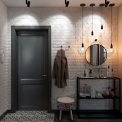 Corridor & hallway by Студия архитектуры и дизайна Дарьи Ельниковой